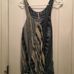 Free people crochet tank top.